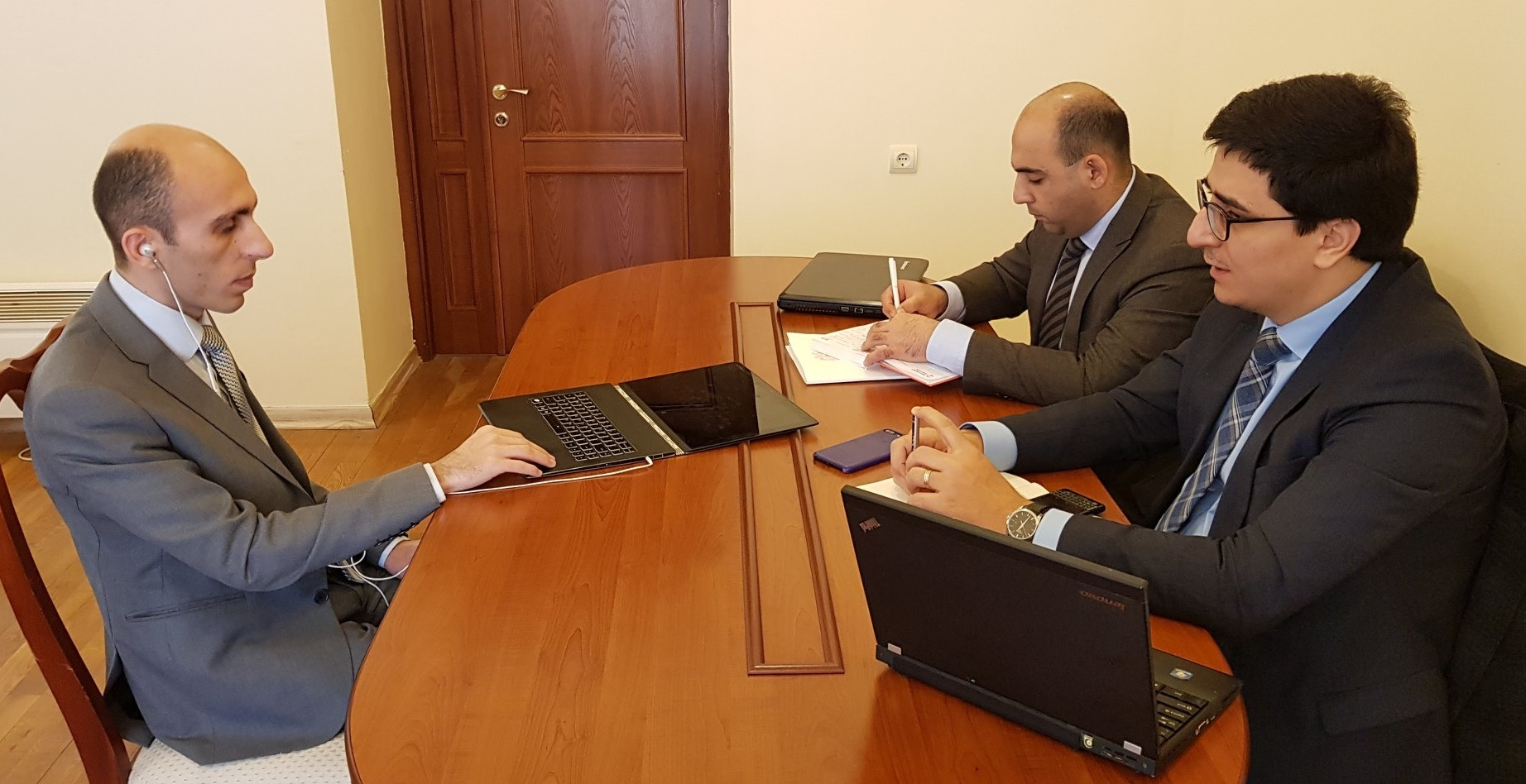 The Government Agent of Armenia before the ECHR met with the Human RIghts Defender of NKR